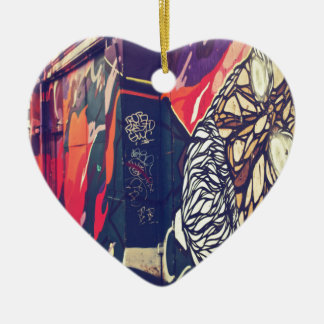 Street Graffiti Ceramic Heart Decoration