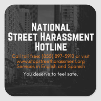 Street Harassment Hotline Sticker