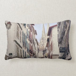 Street in Bayonne Lumbar Cushion