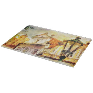 Street in old part of prague cutting board