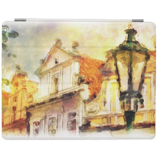 Street in old part of prague iPad cover