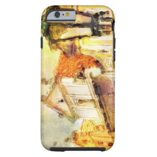 Street in old part of prague tough iPhone 6 case