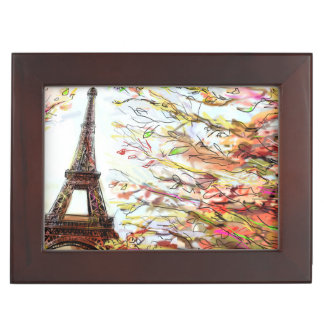 Street In Paris - Illustration 2 Keepsake Box