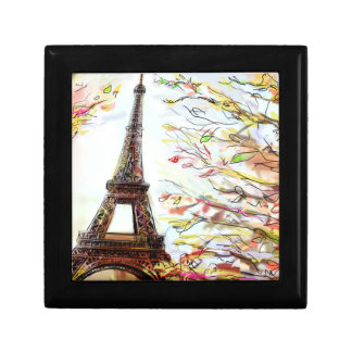 Street In Paris - Illustration 2 Small Square Gift Box