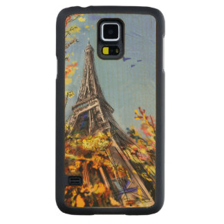 Street In Paris - Illustration Carved Maple Galaxy S5 Case
