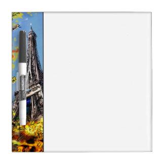 Street In Paris - Illustration Dry Erase White Board