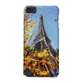 Street In Paris - Illustration iPod Touch (5th Generation) Cases