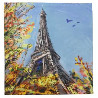 Street In Paris - Illustration Napkin