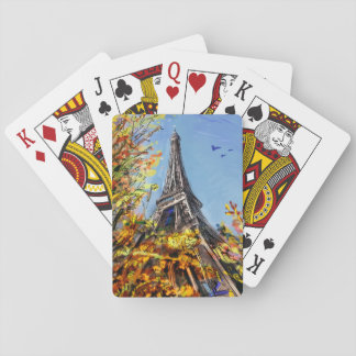 Street In Paris - Illustration Playing Cards