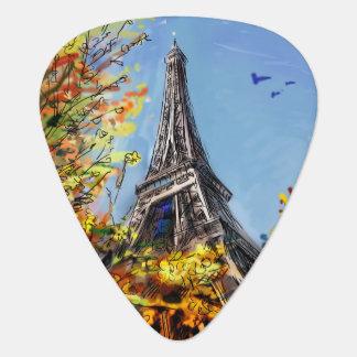 Street In Paris - Illustration Plectrum