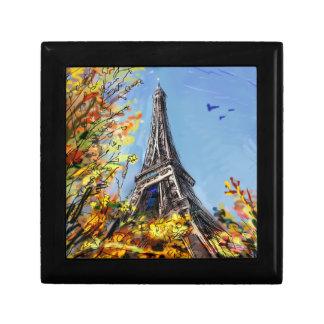 Street In Paris - Illustration Small Square Gift Box