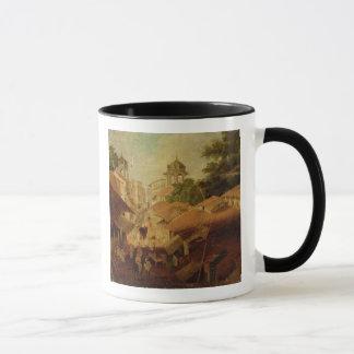Street in Patna, c.1825 (oil on canvas) Mug
