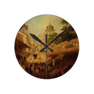 Street in Patna, c.1825 (oil on canvas) Round Clock