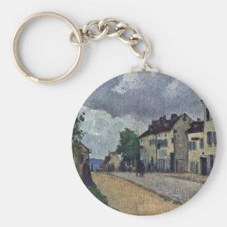 Street In Pontoise (Rue De Gisors) Keychains