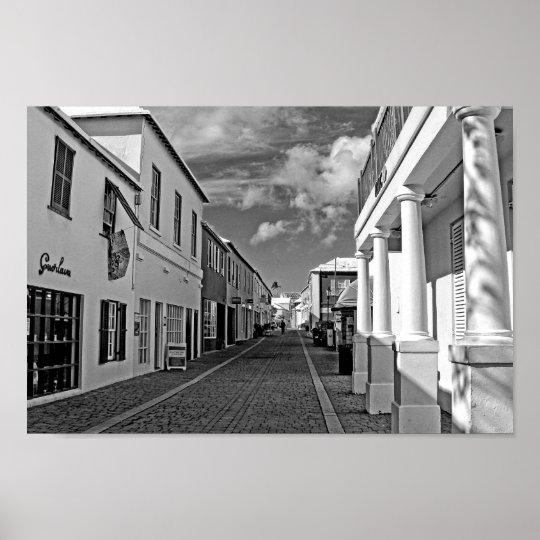 Street in Saint George, Bermuda Poster