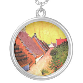 Street in Saintes-Maries by Vincent van Gogh Silver Plated Necklace