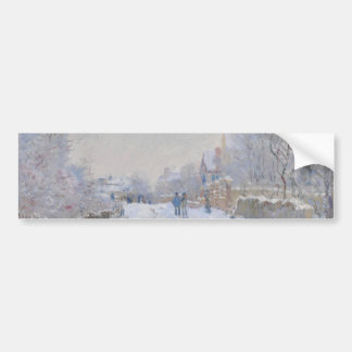 Street in the Snow Argenteuil by Claude Monet Bumper Sticker