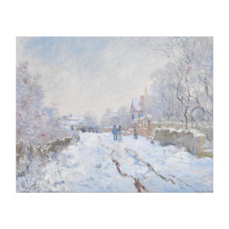 Street in the Snow Argenteuil by Claude Monet Canvas Prints