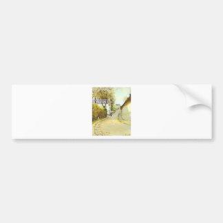 Street in Ville d Avray by Alfred Sisley Bumper Sticker