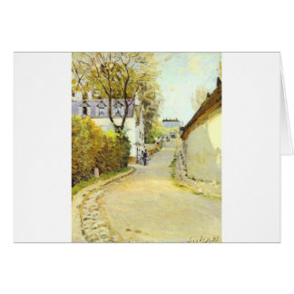 Street in Ville d Avray by Alfred Sisley Greeting Card