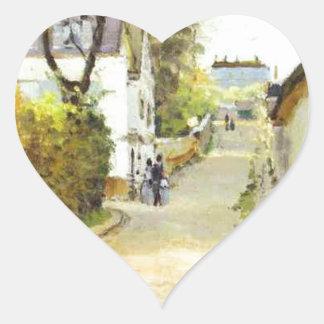Street in Ville d Avray by Alfred Sisley Heart Sticker