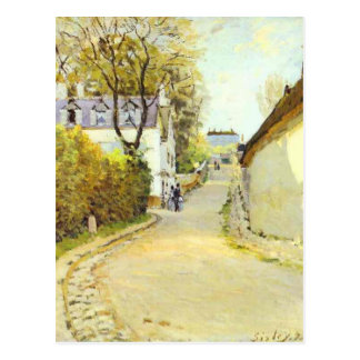 Street in Ville d Avray by Alfred Sisley Postcard