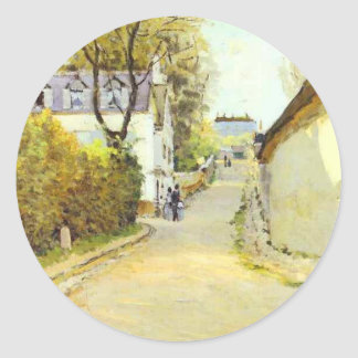 Street in Ville d Avray by Alfred Sisley Round Sticker