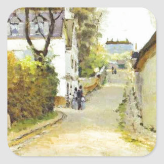 Street in Ville d Avray by Alfred Sisley Square Sticker