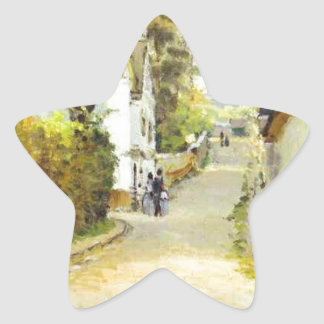 Street in Ville d Avray by Alfred Sisley Star Sticker