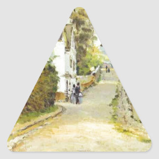 Street in Ville d Avray by Alfred Sisley Triangle Sticker