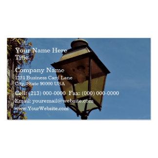 Street lamp against blue sky business card template