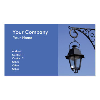 Street lamp business card templates