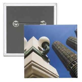 Street lamp detail at Marina City Towers Chicago 15 Cm Square Badge
