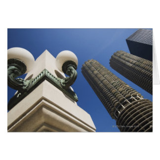 Street lamp detail at Marina City Towers Chicago Card