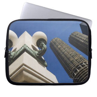 Street lamp detail at Marina City Towers Chicago Laptop Sleeve