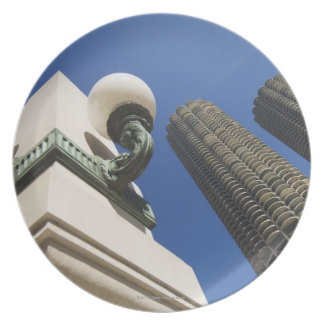 Street lamp detail at Marina City Towers Chicago Plate