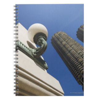 Street lamp detail at Marina City Towers Chicago Spiral Notebook
