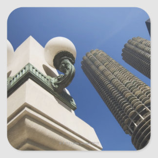Street lamp detail at Marina City Towers Chicago Square Sticker