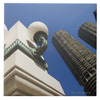 Street lamp detail at Marina City Towers Chicago Tile
