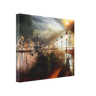 Street Lamp Hallucination Gallery Wrapped Canvas