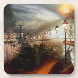 Street Lamp Hallucination Drink Coasters