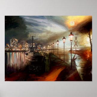 Street Lamp Hallucination Poster
