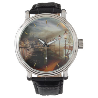 Street Lamp Hallucination Wristwatch