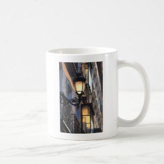 Street lamp in old town Madrid Mugs