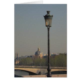 Street Lamp in Paris Greeting Card
