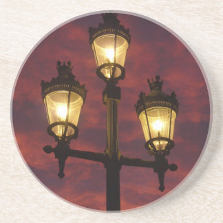 Street lamp lantern beautiful colorful sky coaster