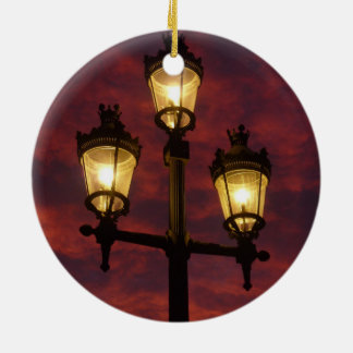 Street lamp lantern beautiful colorful sky christmas tree ornaments