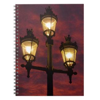 Street lamp lantern beautiful colorful sky notebook