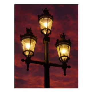 Street lamp lantern beautiful colorful sky postcard