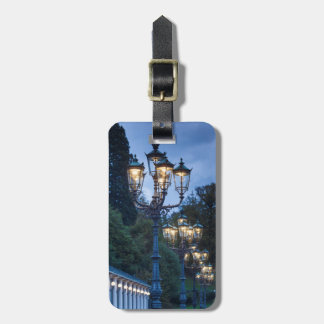 Street lamps at night, Germany Luggage Tag